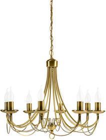 Candellux Klasyczny Żyrandol świecznikowy LAMPA wisząca MUZA 38-69187 Patyna