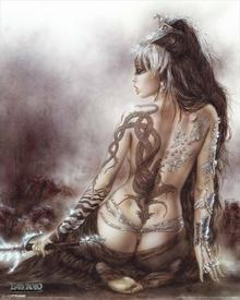 Luis Royo - Dziewczyna z tatuażem - Plakat