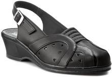 Comfortabel Sandały 720099 Schwarz 1 skóra naturalna/licowa