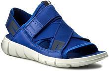 Ecco Sandały Intrinsic Sandal 84200355694 Mazarine Blue/Mazarine Blue materiał/-materiał, skóra naturalna/licowa