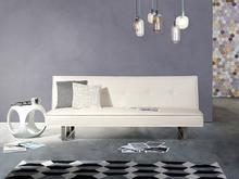 Beliani Sofa z funkcją spania biała - kanapa rozkładana - wersalka - DERBY biały