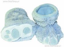 Kapciuszki maluszki botki polarowe 6-12 stalowo niebieskie