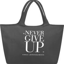 healthy plan by ann torba na zakupy Never Give Up szara TKSN001