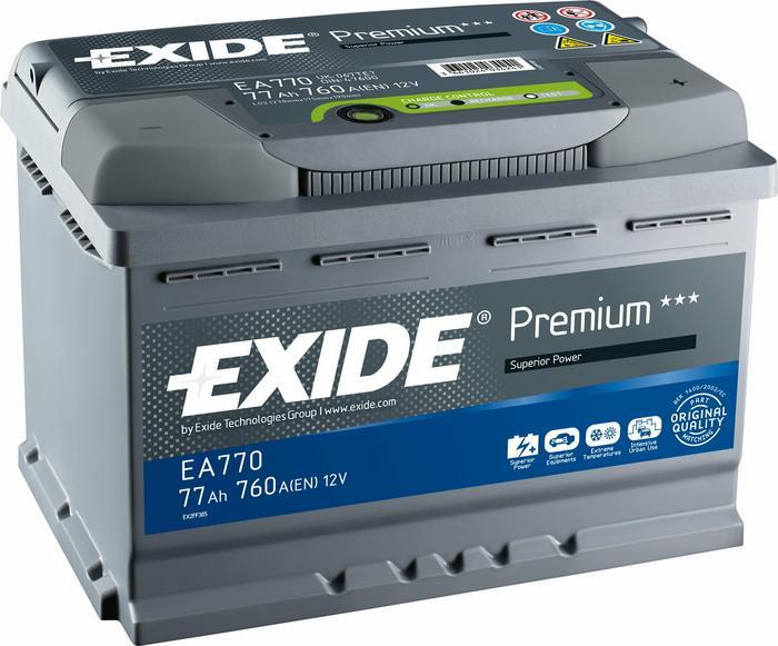 Exide Premium 53Ah 540A EA530 P+