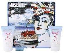 Moschino Funny! zestaw upominkowy tester dla kobiet 3 szt. woda toaletowa 4 ml + żel ciała 25 ml + żel pod prysznic 25 ml