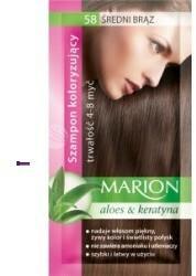 Marion Aloes & Keratyna 4-8 myć szampon koloryzujący w saszetce 58 Średni Brąz 40ml