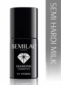 Semilac Diamond Cosmetics Hard Milk Hybrydowy żel budujący na paznokcie 7 ml