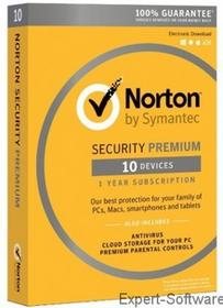 Symantec Norton Security Premium 3.0 (10 stan. / 1 rok) - Nowa licencja