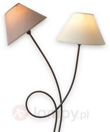 Näve Dwupunktowa materiałowa lampa stojąca Twiddle