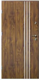 O.K.Doors Drzwi zewnętrzne  Arte III Line 90 lewe złoty dąb