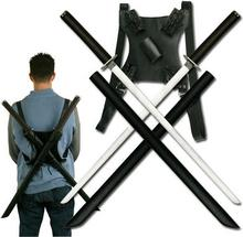 Twin Ninja Katana with Back Strap SW-896BK3
