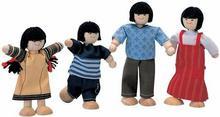 Plan Toys Rodzina skośnookich lalek