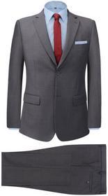 vidaXL 2-częściowy garnitur biznesowy męski szary rozmiar 48