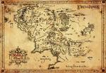 Władca Pierścieni - Mapa Śródziemia (Pergamin) - Obraz. reprodukcja