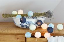 Cotton Ball Lights : Big blue 20 kul - 20 kul
