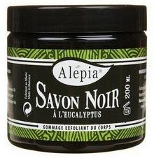 Alepia Savon Noir Czarne Mydło Peelingujące Eukaliptusowe 200ml