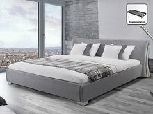 Beliani Nowoczesne łóżko Tapicerowane ze stelazem 180x200 cm - PARIS szare szary