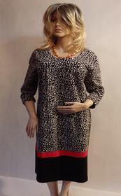 MaximoModa Elegancka sukienka wzorzysta XXXL RO0024