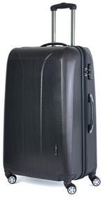 March Duża walizka 0088-21-75 czarno-różowa NEW CARAT - czarno-różowy