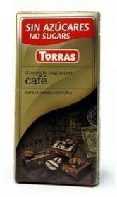 Torras Czekolada gorzka z kawą bez cukru 75 g