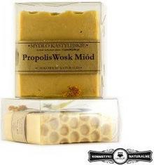 Mydło w kostce kastylijskie Propolis, Wosk i Miód - Czyste mydło