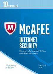 McAfee Internet Security 2017 BOX PL 10 device licencja na rok