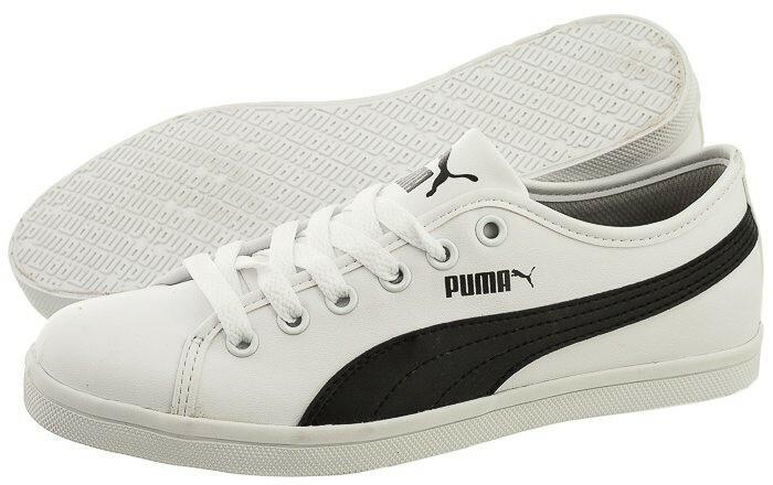 Puma Trampki Elsu SL F Jr 356824 04 (PU290 c) biały – znajdź