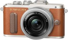 Olympus Pen E-PL8 +14-42 brązowy