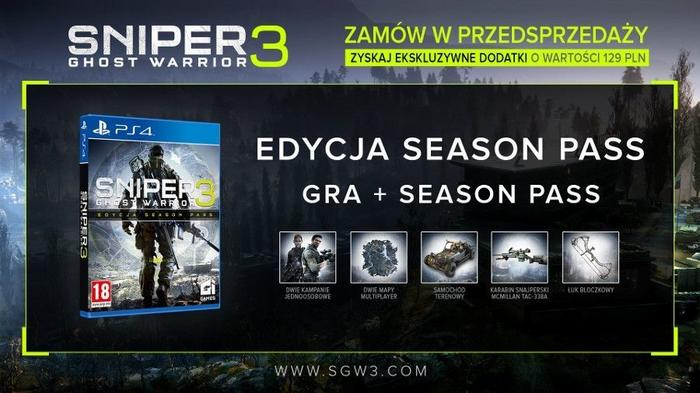 Premiera Sniper Ghost Warrior 3 Edycja Season Pass PS4