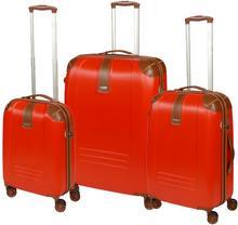 Dielle Komplet walizek na 4 kółkach 155 SET/155-55/60/70 rosso