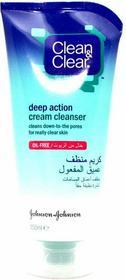 Johnson&Johnson Clean & Clear Głęboko oczyszczający krem do mycia twarzy 150ml
