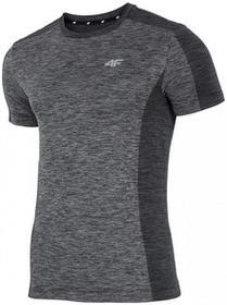 4F [D4L17-TSMF206] Koszulka treningowa męska TSMF206 jasny szary melanż