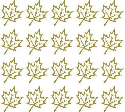 Szabloneria Naklejki ścienne - liście klonu (komplet)