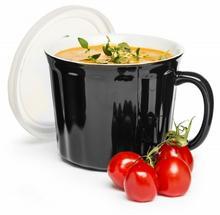 Sagaform Kubek na zupę Soup z pokrywką, czarny