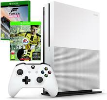 Microsoft Xbox One S Biały 500GB + FIFA 17 + Forza Horizon 3 + 6M BXL + Kontroler XboxOne S