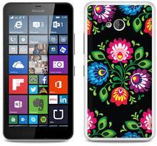 Etuo.pl Fantastic Case - Microsoft Lumia 640 - etui na telefon Fantastic Case - czarna łowicka wycinanka ETMS174FNTCFC132000