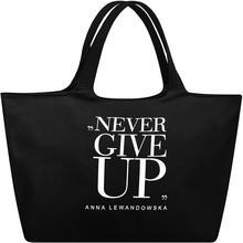 healthy plan by ann Torba uniwersalna Anna Lewandowska Never Give Up czarna TKCN001