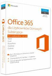 Microsoft Office 365 Home dla Użytkowników Domowych 32/64 Bit PL licencja na rok + McAfee Total Protection 2017 BOX PL 5 device licencja na rok