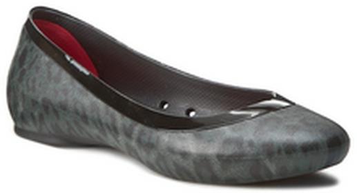 Crocs Baleriny Lina Shiny Flat 203406 Black/Black tworzywo/-Croslite