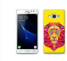 Etuo.pl Fantastic Case - Samsung Galaxy J3 (2017) - etui na telefon Fantastic Case - geometryczny lew ETSM456FNTCFC047000
