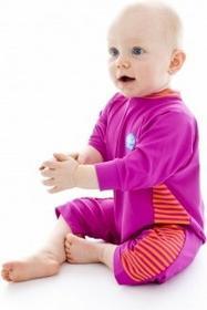 Splash About All-in-One Suit - mini-kombinezon BabyGrip (różowy ze wstawkami w paski