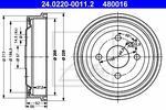ATE BĘBEN HAM  24.0220-0011.2 OPEL ASTRA F 1.4 92-98. 1.6 95-98