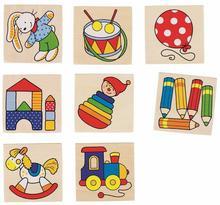 Memo drewniane zabawkowe dla malucha 16el.