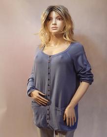 MaximoModa Sweter rozpinany niebieski XXXL PU0013