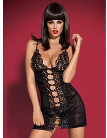 Obsessive (POL) Bride koszulka i stringi czarne L/XL 6_2081