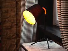 Beliani Lampa biurowa czarna - stołowa - nocna - gabinetowa - MOOKI czarny