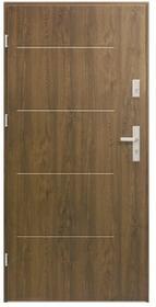 Drzwi stalowe zewnętrzne Elegance 80 cm lewe orzech
