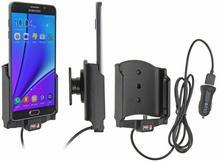Brodit AB Uchwyt do Samsung Galaxy Note 5 z wbudowanym kablem USB oraz ładowarką