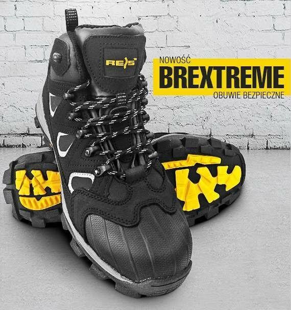 Reis BREXTREME S3 SRC - nubukowe buty robocze typu trzewik, wzmocnie na czubku, odblaski z boku - 39-47.
