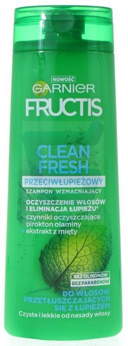 Garnier  Fructis Clean Fresh Wzmacniający szampon do włosów Przeciwłupieżowy 400 ml